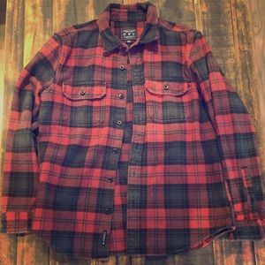 American Eagle thick flannel button up, sz L